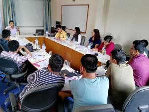 CMF Executive Director Bimal Gautam interacting with participants