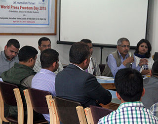 College Orientation on World Press Freedom Day